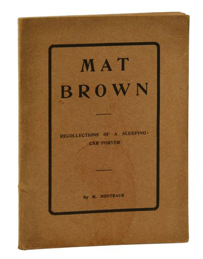 Detroit: , 1901. Very Good. Probable first edition. 53 pp. with photo frontis of the author. Brown w...