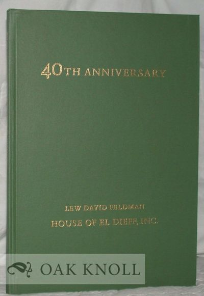 New York: House of El Dieff Inc, 1975. cloth. Book Catalogue. 4to. cloth. 42 pages. Includes Sir Art...