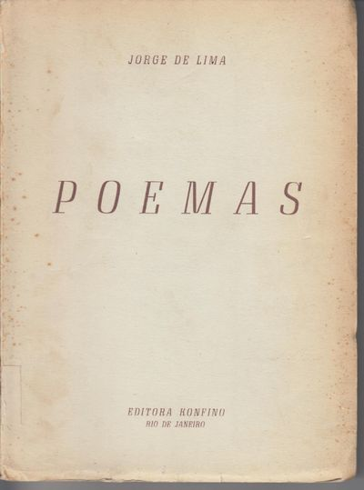 Rio DE Janeiro: Editora Konfino. 1952. Second Edition. Softcover. Wraps, just very good- with spine ...