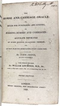 [Bewick, Thomas- Rarity] A Short Treatise on that Useful Invention called the  Sportsman's Friend, or the Farmer's Footman, by a Gentleman  Farmer of Northumberland... [Together with] The Horse and Carriage, John Jervis