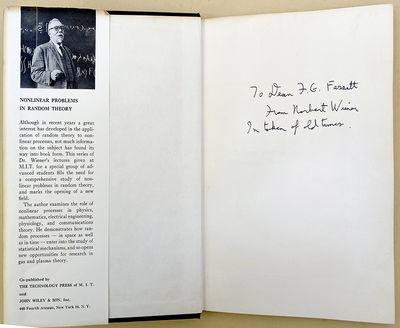 New York: MIT & Wiley, 1958. Wiener, Norbert (1894-1964). Nonlinear problems in random theory. ix, 1...