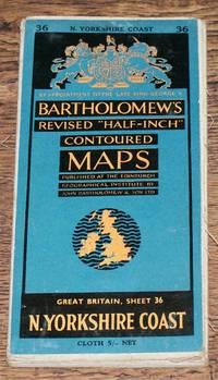 "image of North Yorkshire Coast - Bartholomew's Revised ""Half-Inch"" Contoured Maps, Great Britain Sheet 36"