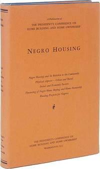 Negro Housing: Report of the Committee on Negro Housing