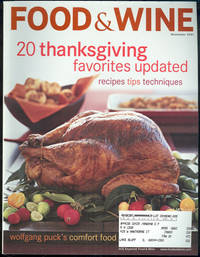 FOOD AND WINE MAGAZINE NOVEMBER 2001 by Food and Wine Magazine - 2001 - from Gibson's Books (SKU: 50269)