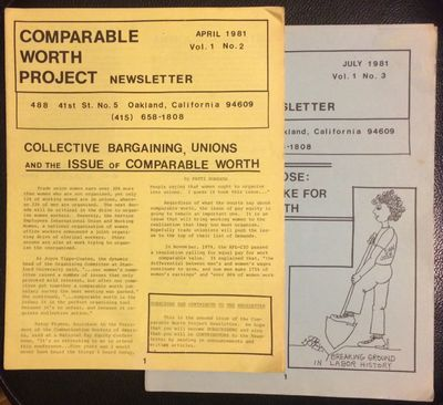 Oakland: the Project, 1981. Two issues of the newsletter, 12 and 16 pages respectively, 8/5x11 inche...