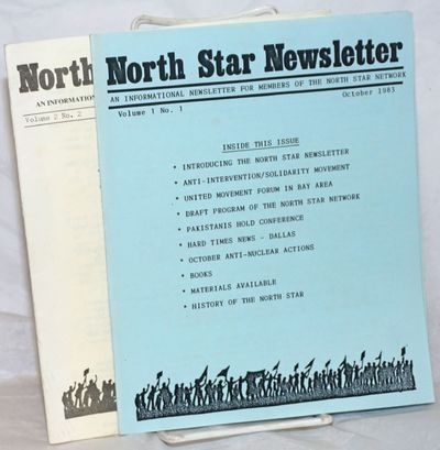 Berkeley: North Star Network, 1984. Two issues of the staplebound newsletter, 15 and 19p. respective...