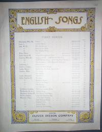 image of Vintage Sheet Music from the Oliver Ditson & Co 1890-1900 Loch Lomond