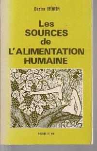 Les sources de l'alimentation humaine