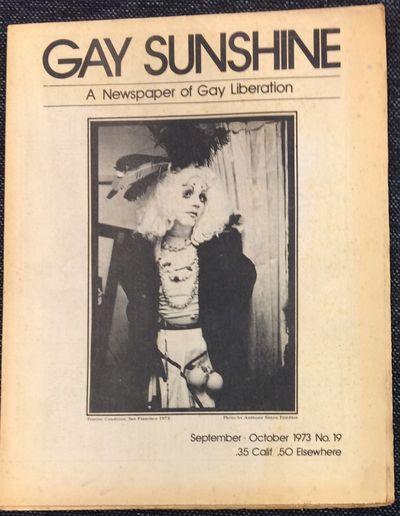 San Francisco: Gay Sunshine, 1973. Newspaper. 20p., illustrations, poetry, essays, reviews, news, fo...