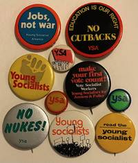 image of [Ten different YSA pinback buttons]