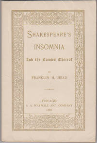 Shakespeare's Insomnia: And the Causes Thereof