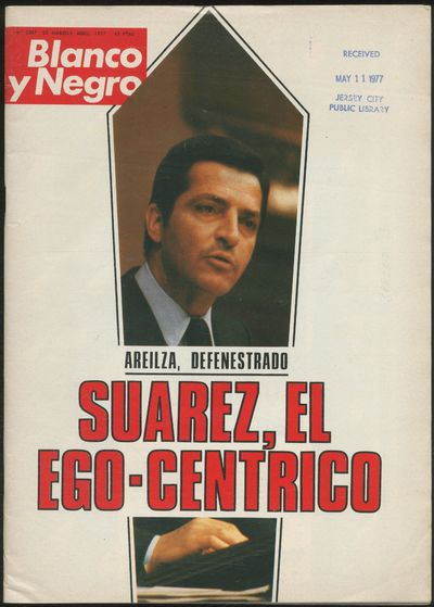 Madrid: Blanco y Negro, 1977. Softcover. Very Good. First edition. Stapled wrappers. 79pp. Text in S...