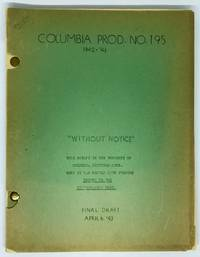 [SCREENPLAY] My Kingdom For a Cook [Without Notice] Original Screenplay for the 1943 film