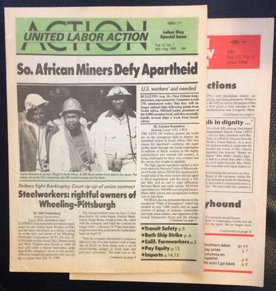 New York: Center for United Labor Action, 1990. Two issues of the 8.5x11 inch newsletter; vol. 12 no...