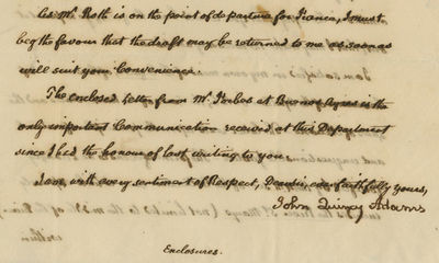 17/07/1821. John Q. Adams The Ship Apollon sailed from France, bound to Charleston, South Carolina, ...