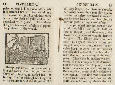 J. Kendrew, 1822. Adventures of the beautiful little maid Cinderilla, or, The history of a glass sli...