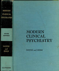 Modern clinical psychiatry. [The beginnings of psychiatry -- Development of dynamic psychiatry -- Personality development -- Adaptive processes and mental mechanisms -- Psychopathology -- The causes and nature of mental disorders -- Examination of the patient -- Disorders caused by or associated with impairment of brain tissue function -- Brain syndromes resulting from drug or poison intoxication -- Alcoholism and alcoholic psychoses -- Mental disorders caused by or associated with head trauma -- Acute brain syndromes associated with metabolic disturbances -- Chronic brain disorders -- Mental disturbances with other forms of syphilis of the central nervous system -- Brain syndromes associated with chronic arteriosclerosis ] by  1916-2005  John Leonard Pyron - Hardcover - 1963 - from Joseph Valles - Books and Biblio.co.uk
