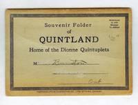 image of Souvenir Folder of Quintland, Home of the Dionne Quintuplets