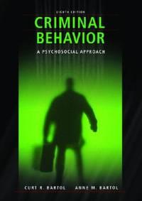 Criminal Behavior : A Pyschological Approach