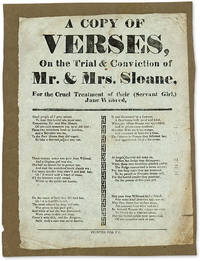 A Copy of Verses, On the Trial & Conviction of Mr & Mrs Sloane..
