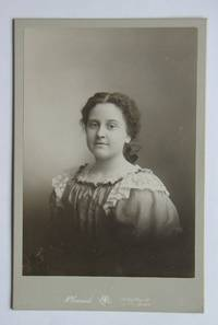 Cabinet Photograph. Studio Portrait of a Young Woman.
