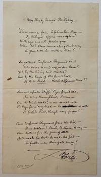 Handwritten Unpublished Poem with an original cabinet photograph
