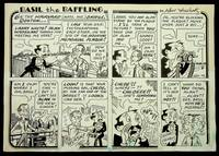 [ Original artwork, magic ] Original artwork for the Comic Strip Basil the Baffling published in the June 1995 issue of M-U-M