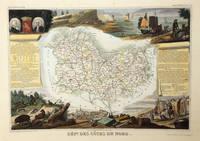 Carte du Département des Côtes du Nord (Bretagne), région du Nord Ouest, n° 21.