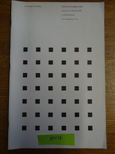 La Jolla Museum of Contemporary Art, 1985. Softcover. G+ (White covers are slightly soiled, esp. nea...