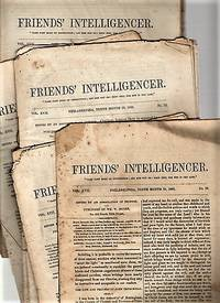 "FOURTEEN (14) ISSUES OF ""FRIENDS' INTELLIGENCER"" ISSUED IN 1860.  Edited by an Association of Friends"