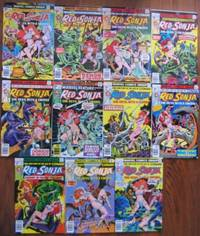 Red Sonja:  Fire and  Fury in the Age of Conan! --#1 January 1977, #2, #3, #4, #5, #6, #7, #8, #9, #10, #11- a Complete 1 - 11 issue run, All in Mint Condition, All in Mylar Comic Bags