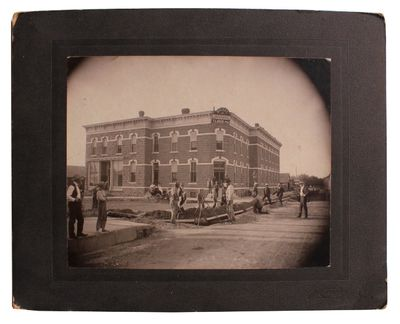 , 1890. Black and white photograph measuring 7½