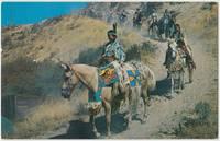 Indians on the Trail, unused Postcard