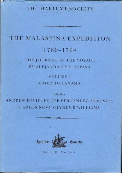 London: The Hakluyt Society, 2001. First Edition. Fine/Near Fine. ; Vol. I - Cadiz to Panama, xcvii,...