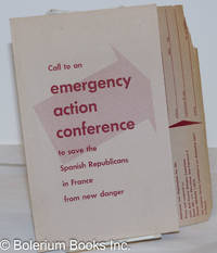 image of Call to an emergency action conference to save the Spanish Republicans in France from new danger