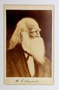 [ Photograph, cabinet card ] Cabinet card of poet and editor William Cullen Bryant with facsimile signature beneath