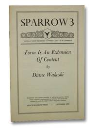 Sparrow 3, December 1972: Form is an Extension of Content