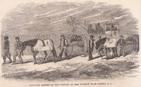"image of Engraving from Frank Leslie's Illustrated Almanac ""Bringing Horses on the  Ground At the Fashion Race Course, L. I. "" May 1866"