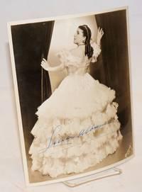 8x10 sepia photograph of Licia Albanese as Violetta in La Traviata, signed