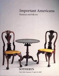 Important Americana: American Furniture, Clocks, Decorations, American Folk Art, Folk Paintings and 20th Century Self-Taught Art, New York, January 17 and 19, 1997 (Sale 6957)