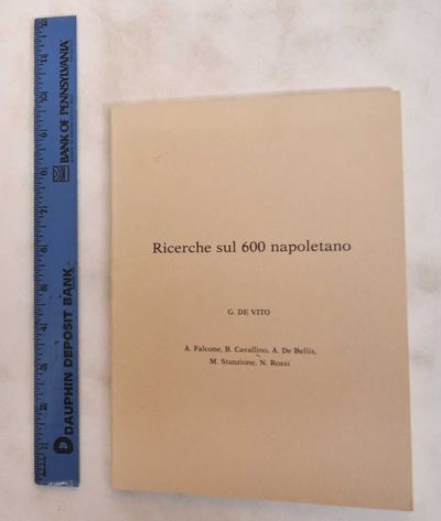 Italy: Arti grafiche Lanconelli & Tognolli, 1982. Softcover. G+, corners slightly bumped. Beige wrap...