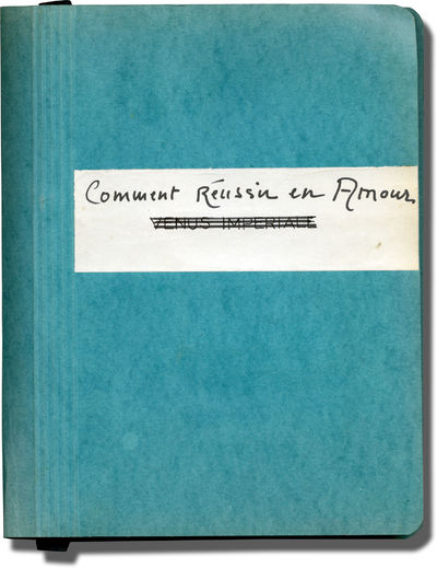 Paris: France Cinema Productions, 1962. Original scenario with dialogue script for the 1962 film, he...
