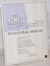 image of The Names Project: Inaugural Display [brochure/map] Sunday, October 11, 1987, Washington, D.C.