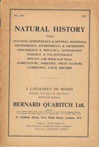 A Catalogue of Books offered for Sale at Net prices Bernard Quaritch Ltd.  No. 796 1959.  Natural History
