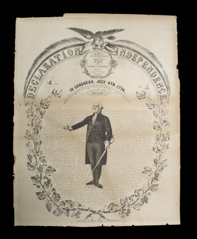 A Large Lithograph of the Declaration of Independence . Declaration of Independence. In Congress, Ju...