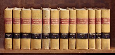1816. 12 Volumes, Complete set, Wheaton 1-12 (1816-1827). 12 Volumes, Complete set, Wheaton 1-12 (18...