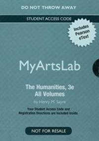New MyArtsLab with Pearson eText - Valuepack Access Card -- for the Humanities: Volume 1: Culture, Continuity and Change by Henry M. Sayre - 2014-02-06 - from Books Express (SKU: 0205997880n)