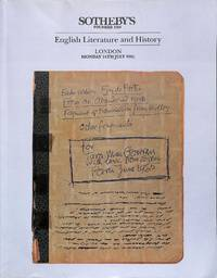Sale 24 July 1995: English Literature and History.
