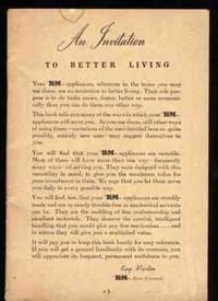 AN INVITATION TO BETTER LIVING  (Handbook for KM Liquidizer)