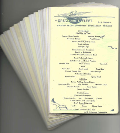 Collection of Menus from the S.S....